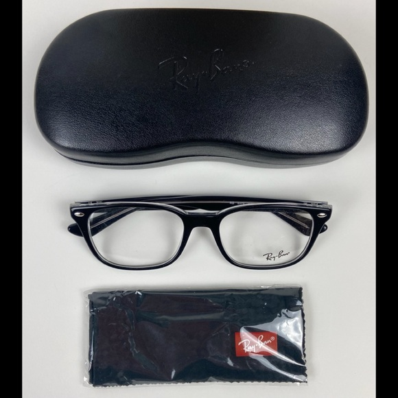 Ray-Ban 53-18 Black/Transparent Eyeglasses